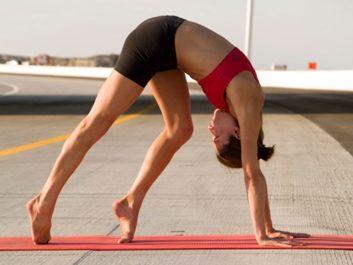 yoga downward dog stretch
