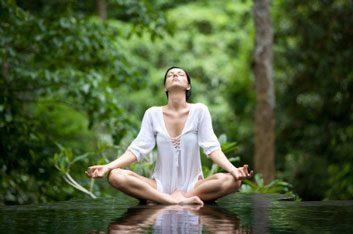 yoga meditation outdoors