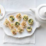 Mushroom and Swiss Cheese Mini-Quiches with Crab Remoulade Cups