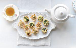Mushroom and Swiss Cheese Mini-Quiches