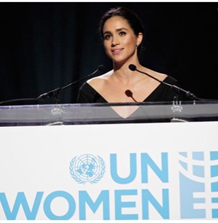 Meghan is an ambassador to UN Women