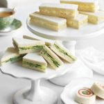Egg Salad Tea Sandwiches, Cucumber Tea Sandwiches and Smoked Salmon Pinwheels
