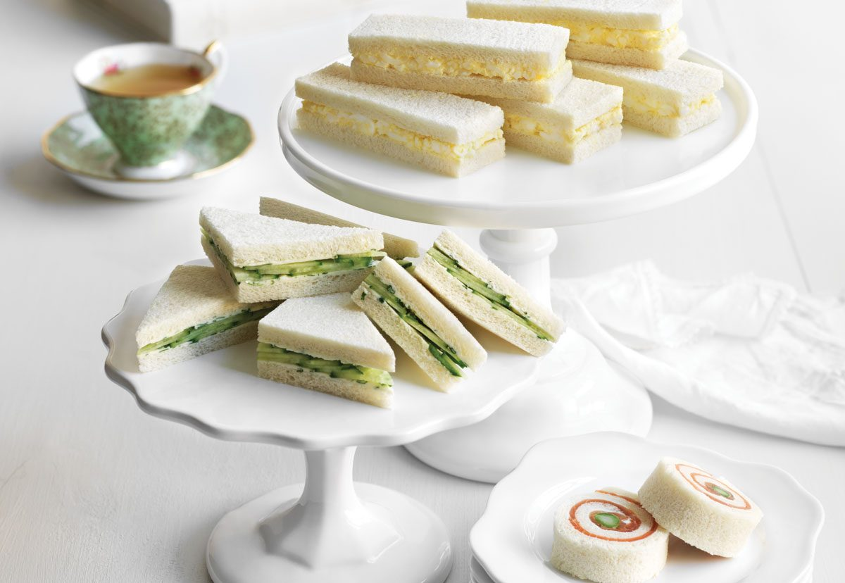 Egg Salad Tea Sandwiches, Cucumber Tea Sandwiches and Smoked Salmon ...