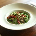 Quinoa and Brown Rice with Spring Vegetables and Oyster Mushroom Duxelles