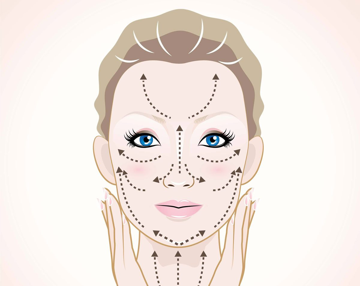 4 easy ways to give yourself a facial massage best health facial massage melissa greer courtesy besthealthmag solutioingenieria Image collections