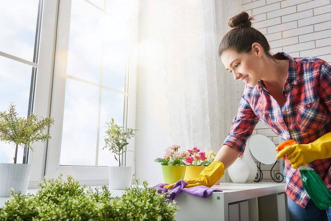 cleaning with natural product