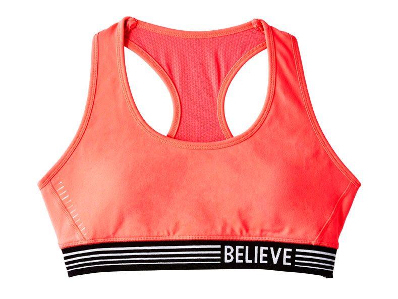 Coral Believe Sports Bra, $25
