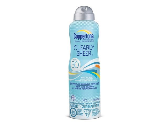 Coppertone Clearly Sheer Spray for Body