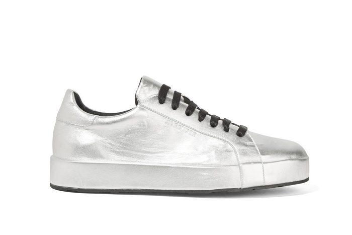 Jil Sander Metallic Leather Sneakers