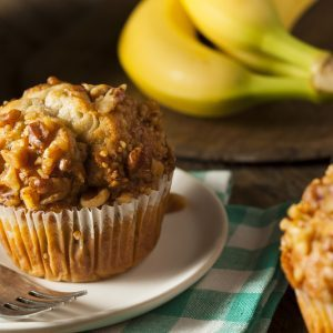 Banana Nut Butter and Jam Muffins