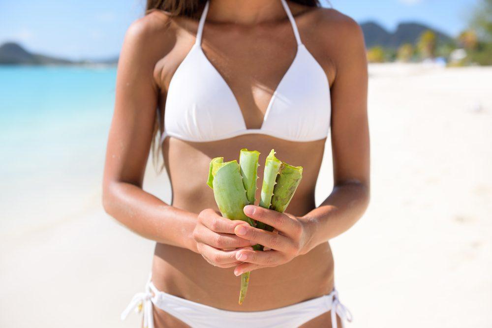 soothe a sunburn aloe vera