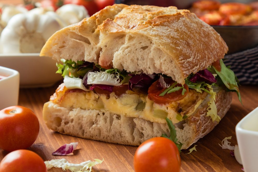 Easy and Delicious Vegetable Frittata Sandwich