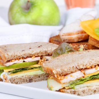 Turkey, Brie and Apple Sandwich on Raisin-Walnut Bread