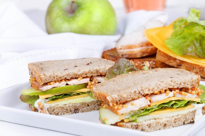 Turkey Apple and Brie Sandwich