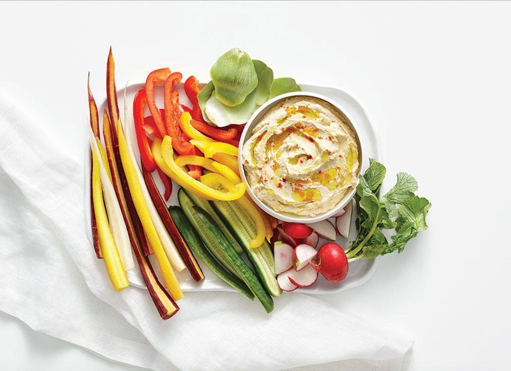 Vegs and Hummus