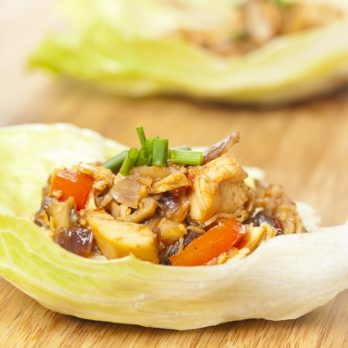Curried Chicken and Apple Lettuce Wraps
