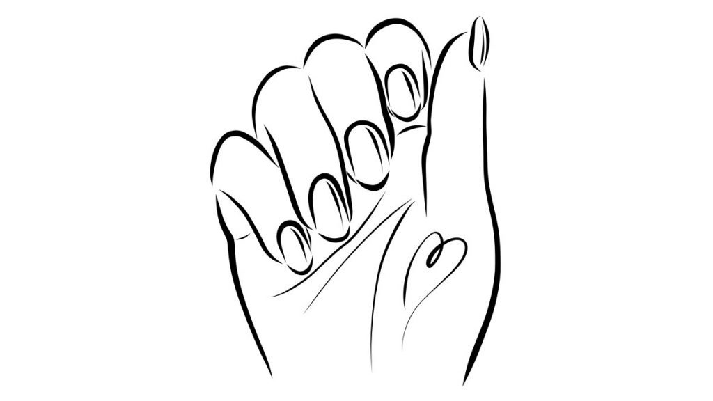 illustration showing nail health