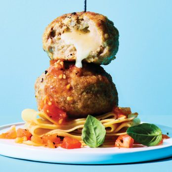 Cheese-Stuffed Italian Style Meatballs