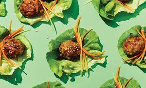 Ginger Sesame Chicken Meatballs