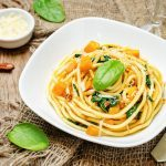 Pasta With Pumpkin Coconut Cream Sauce