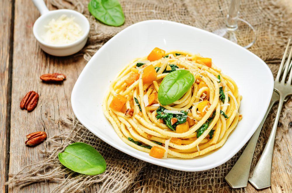 Pasta With Pumpkin Coconut Cream Sauce
