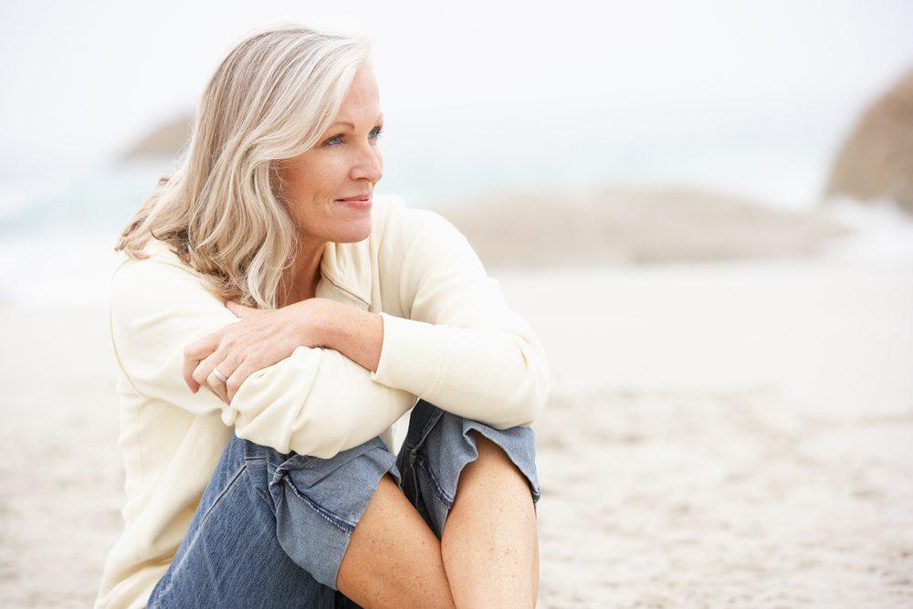 Woman with bone loss