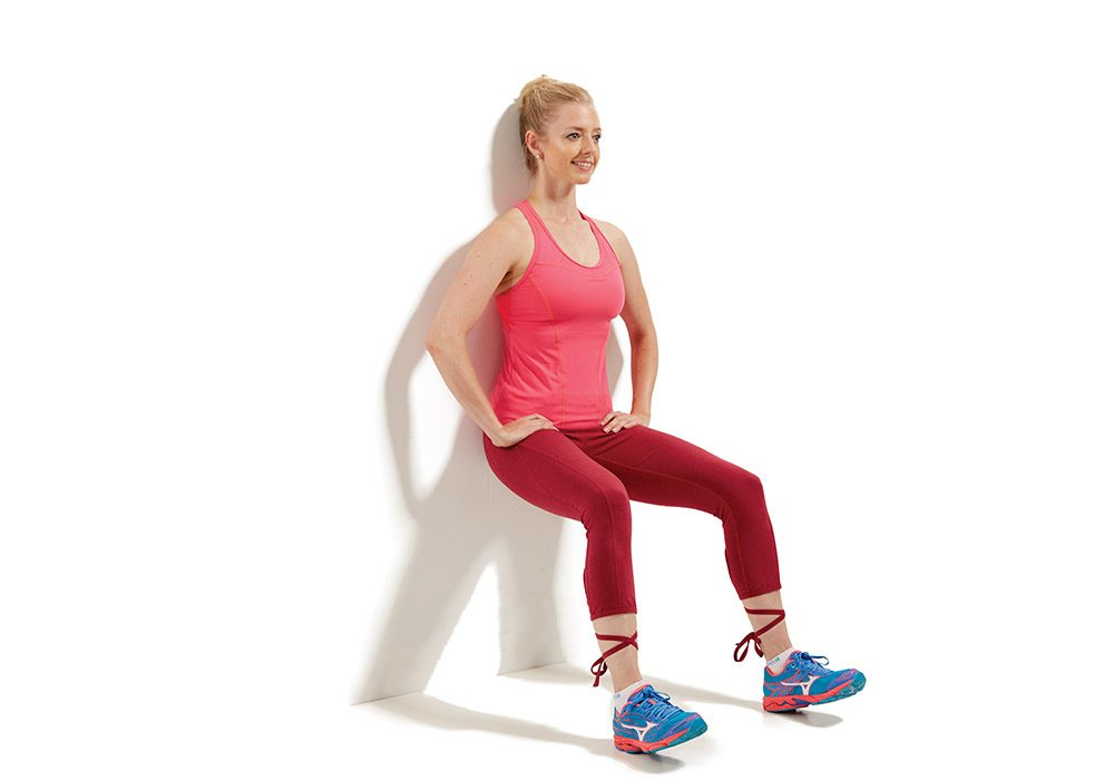 knee exercise - Sliding Wall Squat