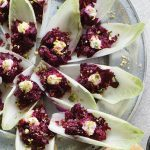 Balsamic Beet Tartar Endive Leaves