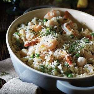 Lemon Dill Seafood Risotto