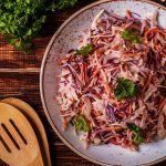 Winter Slaw with White Peach Vinaigrette