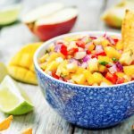 Tortilla Chips with Fresh Mango and Tomato Salsa
