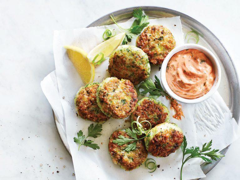 Recipes Crispy Shrimp Cakes with Smoky Tomato Aioli | Best Health ...