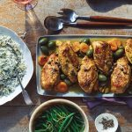 Wine-Roasted Chicken with Apricots and Olives