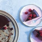 Chocolate Olive Oil Cake with Rosewater Ganache