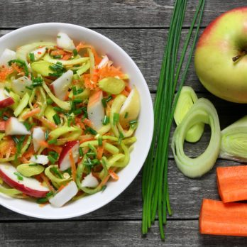 Asian-Style Apple and Sprout Salad