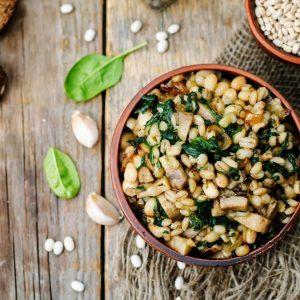 Minted Barley and Bean Salad