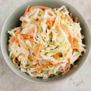 Coleslaw with Celeriac, Carrot and Leek