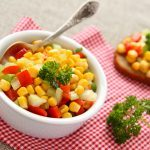 Corn and Red Bell Pepper Salad with Potatoes