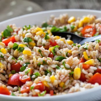 Corn and Whole-Wheat Salad