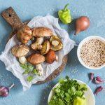 Creamy Mushroom and Quinoa Salad