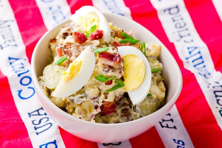 Potato Egg Bacon Salad | egg recipes