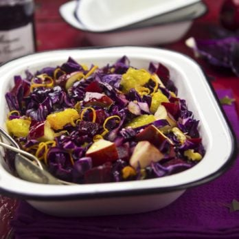 Red Cabbage Salad with Apricots