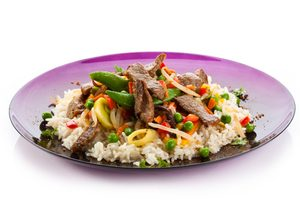 Roast Beef and Rice Salad