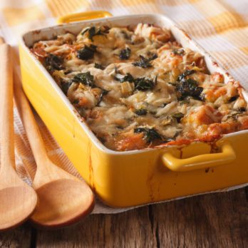 Sausage and Spinach Strata