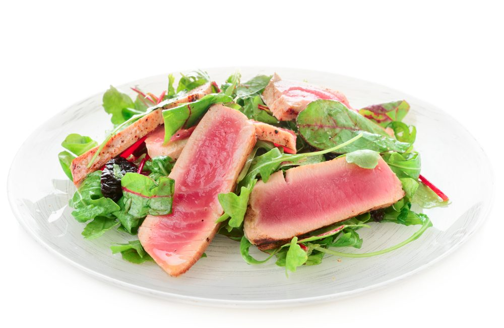 Tuna and Pink Grapefruit Salad