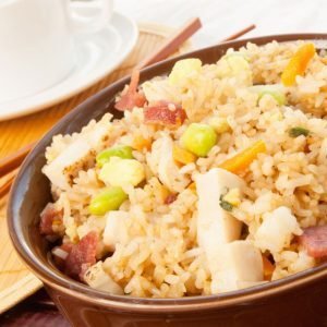 Stir-Fried Rice and Chicken