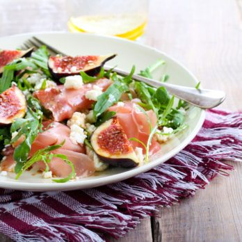 Quick And Healthy Fig and Prosciutto Salad with Orange Vinaigrette