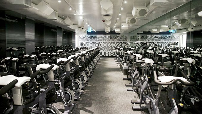 SoulCycle spin bikes