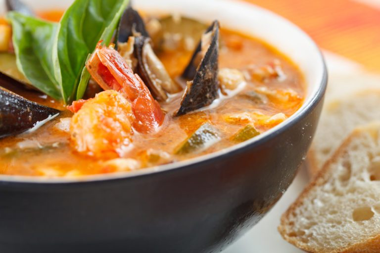 Easy bouillabaisse recipe french fish stew with rouille for French fish recipes