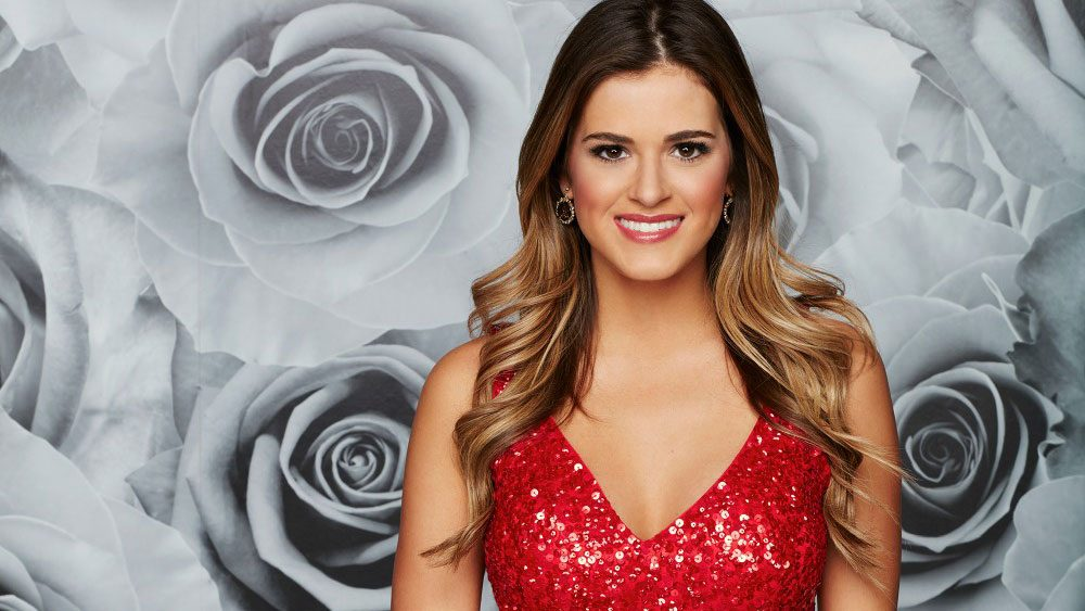 JoJo Fletcher in a red sequins dess